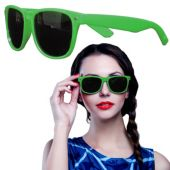 Green Wayfarer Sunglasses-12 Pack