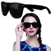 Black Wayfarer Sunglasses-12 Pack