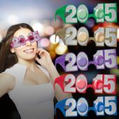 Multi-Color 2015 Glitter Glasses - 6 Pack