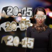 Black, Gold & Silver 2015 Glasses - 6 Pack