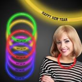 """Happy New Year Glow Necklace-22""""-50 Per Tube"""