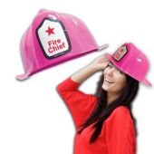 Pink Firefighter Hats-12 Pack