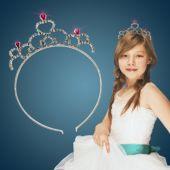 Princess Tiara Headbands-12 Pack