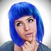 Neon Blue Wig
