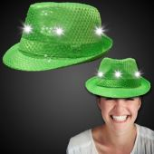 Green LED and Light-Up Sequin Fedora