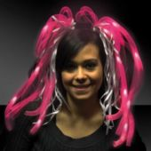 Pink Diva Dreads LED Headband