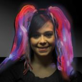 Red, White And Blue Diva Dreads LED and Light-Up Headband