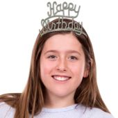 Happy Birthday Glitter Tiara