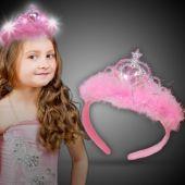 LED Pink Feather Tiara