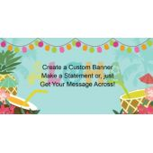 Aloha Luau Custom Message Banner
