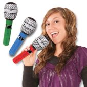 """Inflatable 10"""" Microphones - 12 Pack"""