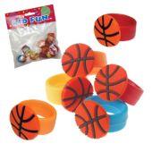 Basketball Rubber Rings - 12 Pack