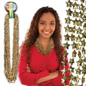 "Gold Bead Star Necklaces-33""-12 Pack"