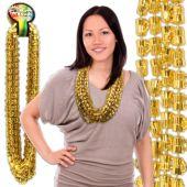 "Gold Bead Beer Mug Necklaces-33""-12 Pack"