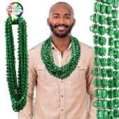 "Green Bead Beer Mug Necklaces-33""-12 Pack"