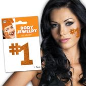 Orange #1 Glitter Body Jewelry