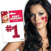 Red #1 Glitter Body Jewelry