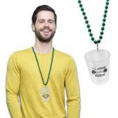 "Irish Shot Glass Bead Necklace-33"""