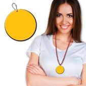 Yellow Plastic Medallion – 2.5 Inches