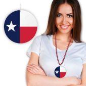 "Texas Flag Plastic Medallion - 2 1/2"""
