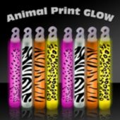 "6"" Animal Print Glow Sticks - 25 Pack"