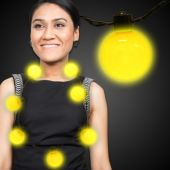 Yellow LED and Light-Up Ball Necklace