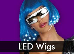 Light Up & Fiber Optic Wigs