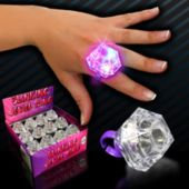 LED Diamond Ring - 12 Pack