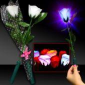 White LED Silk Roses-12 Pack
