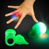 Green LED Jelly Rings-Unit of 24