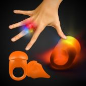 Orange LED Jelly Rings-Unit of 24