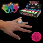LED Easter Bunny Jelly Rings-24 Pack