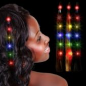 LED Hair Extensions - 12 Pack