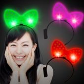 LED Polka Dot Bow Headbands-12 Pack