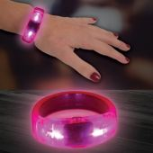 Pink LED and Light-Up Bangle Bracelet