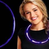 Purple LED and Light-Up Necklace -27""