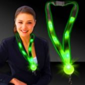 Green LED and Light-Up Lanyard