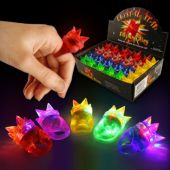LED Spike Jelly Rings-Unit of 24