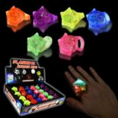 LED Star Jelly Rings-24 Pack
