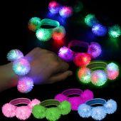 LED Porcupine Bracelet-12 Pack