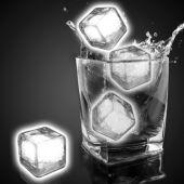 White Liquid Activated Light Up Ice Cubes - 12 Per Unit