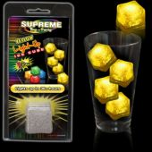 Yellow LED and Light-Up Ice Cube-Retail Pack