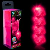 Neon Pink LED Ice Cubes-Unit of 4