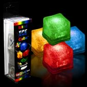 LED Ice Cubes-Variety of Colors-Unit of 4