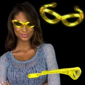 Yellow LED and Light-Up Sunglasses
