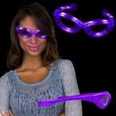 Purple LED and Light-Up Sunglasses