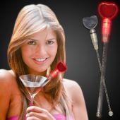 LED Red Heart Shaped Cocktail Stirrer