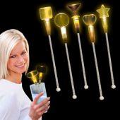 Yellow LED and Light-Up Cocktail Stir Sticks