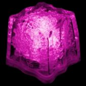 Pink LED Ice Cubes-24 Pack
