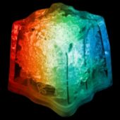 Rainbow LED Ice Cubes-24 Pack